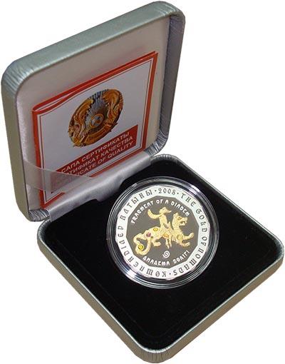 Изображение Подарочные монеты Казахстан 500 тенге 2008 Серебро Proof Серия ``Золото Номад