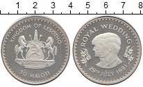 Изображение Монеты Лесото 30 малоти 1981 Серебро UNC