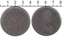 Изображение Монеты Великобритания 1 крона 1668 Серебро VF