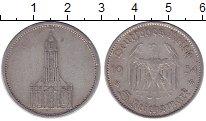 Изображение Монеты Третий Рейх 5 марок 1934 Серебро XF А