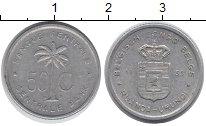 Изображение Монеты Бельгийское Конго 50 сантим 1955 Алюминий XF