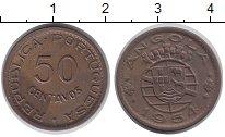 Изображение Монеты Ангола 50 сентаво 1954 Бронза XF