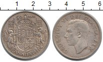Изображение Монеты Канада 50 центов 1951 Серебро XF
