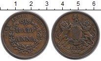 Изображение Монеты Британская Индия 1/2 анны 1835 Медь XF