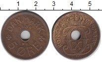 Изображение Монеты Дания 5 эре 1934 Бронза XF