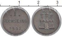 Изображение Монеты Гамбург 1 сешлинг 1851 Серебро XF-