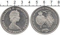 Изображение Монеты Остров Вознесения 25 пенсов 1981 Серебро Proof- Елизавета II. Свадьб