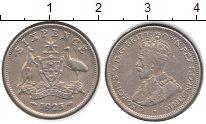 Изображение Монеты Австралия 6 пенсов 1925 Серебро XF Георг V