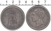 Изображение Монеты Испания 5 песет 1879 Серебро XF-