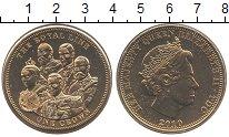 Изображение Монеты Тристан-да-Кунья 1 крона 2010 Медно-никель UNC Елизавета II.  Корол