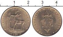 Изображение Монеты Ватикан 20 лир 1972 Латунь UNC