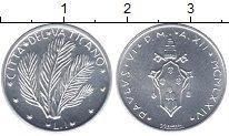 Изображение Монеты Ватикан 1 лира 1974 Алюминий UNC