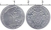 Изображение Монеты Ватикан 1 лира 1975 Алюминий XF