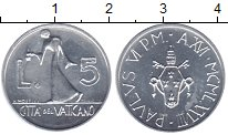 Изображение Монеты Ватикан 5 лир 1978 Алюминий XF