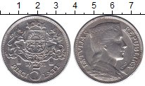 Изображение Монеты Латвия 5 лат 1931 Серебро XF- Первая республика. Д