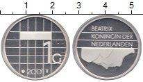 Изображение Монеты Нидерланды 1 гульден 2001 Серебро Proof