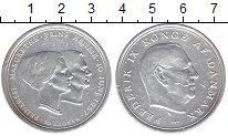 Изображение Монеты Дания 10 крон 1967 Серебро XF- Свадьба принцессы Ма