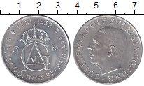 Изображение Монеты Швеция 5 крон 1952 Серебро UNC- 70 лет Густаву VI Ад