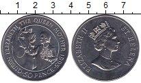 Изображение Монеты Остров Святой Елены 50 пенсов 1995 Медно-никель UNC- Королева-мать