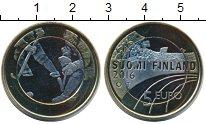 Изображение Монеты Финляндия 5 евро 2016 Биметалл UNC- Хоккей