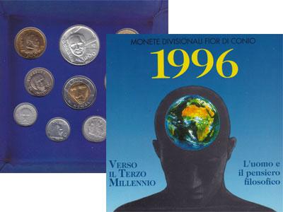 Изображение Подарочные монеты Сан-Марино Сан Марино - часть Европы 1996 Серебро Proof Памятная монета посв