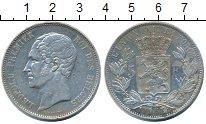Изображение Монеты Бельгия 5 франков 1853 Серебро XF- Леопольд I