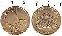 Изображение Монеты Европа 50 евроцентов 2007 Латунь UNC Проба