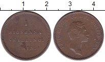 Изображение Монеты Дания 1 скиллинг 1813 Медь XF Фридрих VI