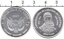 Изображение Монеты Нигер 2500 франков 2007 Серебро UNC
