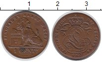 Изображение Монеты Бельгия 1 сантим 1907 Бронза XF+