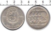 Изображение Монеты Бельгия 100 франков 1950 Серебро XF+