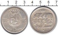 Изображение Монеты Бельгия 100 франков 1950 Серебро UNC-