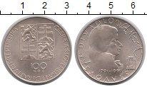 Изображение Монеты Чехословакия 100 крон 1991 Серебро UNC