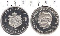 Изображение Монеты Лихтенштейн 10 франков 1990 Серебро Proof