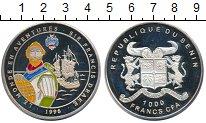 Изображение Монеты Бенин 1.000 франков 1996 Серебро Proof- Цветная  эмаль.  Сэр