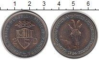 Изображение Монеты Андорра 2 динера 1984 Биметалл UNC-