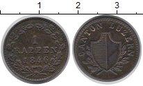 Изображение Монеты Швейцария Люцерн 1 рапп 1846 Медь XF