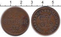 Изображение Монеты Германия Юлих-Берг 1/2 стюбера 1786 Медь VF