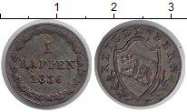 Изображение Монеты Берн 1 раппен 1836 Серебро XF
