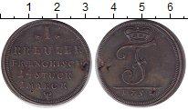 Изображение Монеты Германия Бранденбург 1 крейцер 1752 Медь UNC-