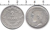 Изображение Монеты Бельгия 2 франка 1911 Серебро XF