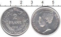 Изображение Монеты Бельгия 2 франка 1912 Серебро XF Левый профиль короля
