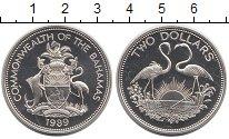 Изображение Монеты Багамские острова 2 доллара 1989 Серебро Proof-