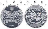 Изображение Монеты Украина 5 гривен 2017 Серебро Proof Петух