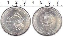 Изображение Монеты Перу 100 соль 1973 Серебро UNC- 100 - летие  торговы