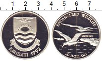 Изображение Монеты Кирибати 20 долларов 1992 Серебро Proof- Защитим  дикую  прир