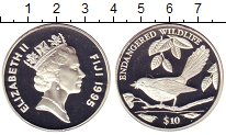 Изображение Монеты Фиджи 10 долларов 1995 Серебро Proof-
