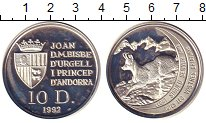Изображение Монеты Андорра 10 динерс 1992 Серебро Proof-