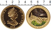 Изображение Монеты Остров Святой Елены 25 пенсов 2013 Латунь UNC Цифровая  печать.  Е