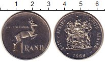 Изображение Монеты ЮАР 1 ранд 1980 Медно-никель Proof- Антилопа  спрингбок